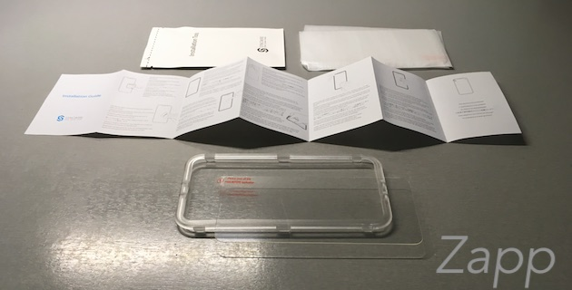 syncwire protection verre trempé iPhone X installation